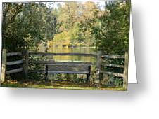 Touch Of Fall In Serenity Greeting Card