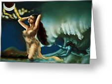 Touch Of The Beautiful Temptress Greeting Card