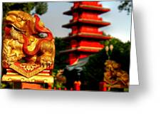 Touch Of The Far East Greeting Card