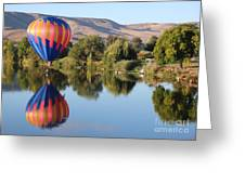 Touchdown On The Yakima River Greeting Card
