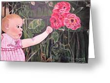 Touched By The Roses Painting Greeting Card