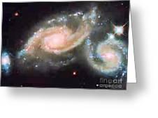 Touching Galaxies Greeting Card
