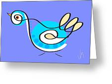 Thoughts And Colors Series Bird Greeting Card