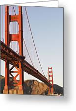 Tour Boats Cross Under Golden Gate Greeting Card by Harry M. Walker
