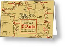 Tour De France 1914 Greeting Card