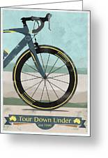Tour Down Under Bike Race Greeting Card by Andy Scullion