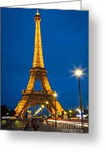 Tour Eiffel De Nuit Greeting Card