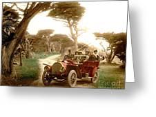 Royal Tourist Touring Car On The 17 Mile Drive Pebble Beach California Circa 1910 Greeting Card