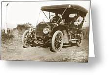 Touring Car On The Road California 1906 Greeting Card