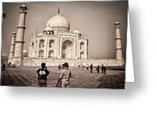 Touring The Taj Greeting Card