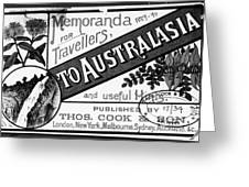 Tourism Australasia, 1889 Greeting Card