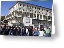 Tourists At Alcatraz Island Greeting Card