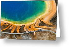 Tourists At Grand Prismatic Greeting Card