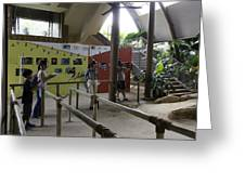 Tourists In A Queue At One Of The Exhibits Inside The Jurong Bird Park Greeting Card