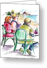 Tourists On The Costa Blanca In Spain Greeting Card