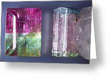 Tourmaline Crystal Specimens Greeting Card