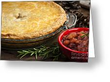 Tourtiere Meat Pie Greeting Card