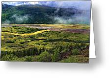Toutle River Valley Greeting Card