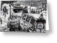 Tow Truck Towing Demolition Car Greeting Card