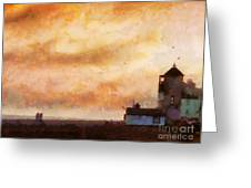 Towards The Shore Greeting Card