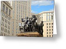 Tower And Statuary Greeting Card