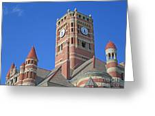 Tower And Turrets Greeting Card