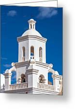 Tower At Mission San Xavier Del Bac Greeting Card