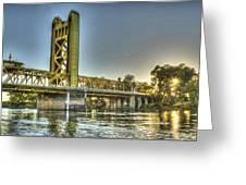 Tower  Bridge 2 Sacramento Greeting Card