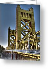 Tower Bridge 4 Sacramento Greeting Card