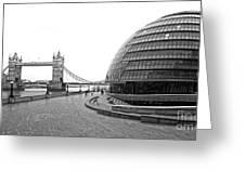 Tower Bridge And London City Hall - Uk Greeting Card