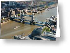 Tower Bridge And London City Hall Aerial View Greeting Card