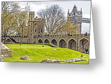Tower Bridge And London Tower Greeting Card