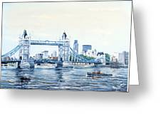 Tower Bridge And The City Of London Greeting Card