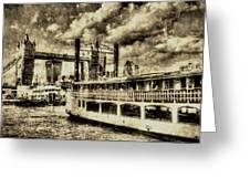 Tower Bridge And The Elizabethan Vintage Greeting Card