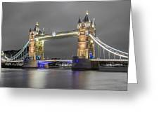 Tower Bridge Color Mix Greeting Card