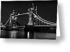 Tower Bridge Evening Greeting Card