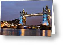 Tower Bridge Illuminated For Je Suis Charlie Greeting Card
