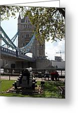 Tower Bridge In The City Of London Greeting Card