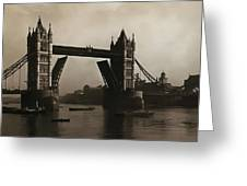 Tower Bridge London 1906 Greeting Card