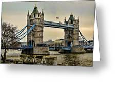 Tower Bridge On The River Thames Greeting Card