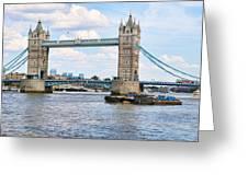 Tower Bridge Panorama Greeting Card