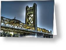 Tower Bridge Sacramento Greeting Card