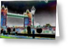 Tower Bridge Surrealism Greeting Card