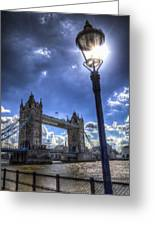 Tower Bridge View Greeting Card