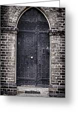 Tower Door Greeting Card by Heather Applegate