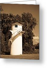 Tower In Sepia Greeting Card