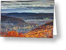 Tower In The Distance Greeting Card