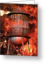 Tower Inferno Greeting Card