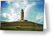 Tower Of Hercules La Coruna Greeting Card