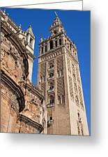 Tower Of The Seville Cathedral Greeting Card